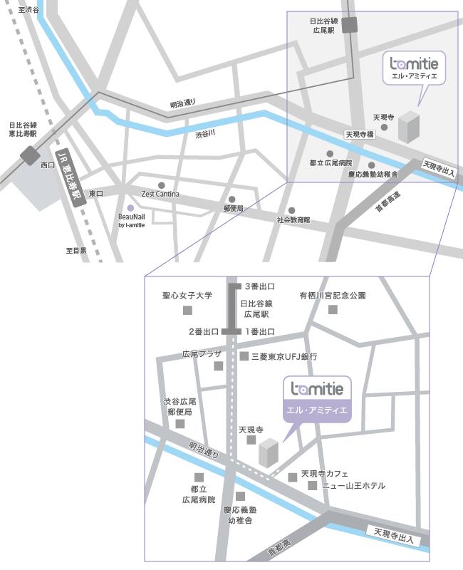 エル・アミティエ地図